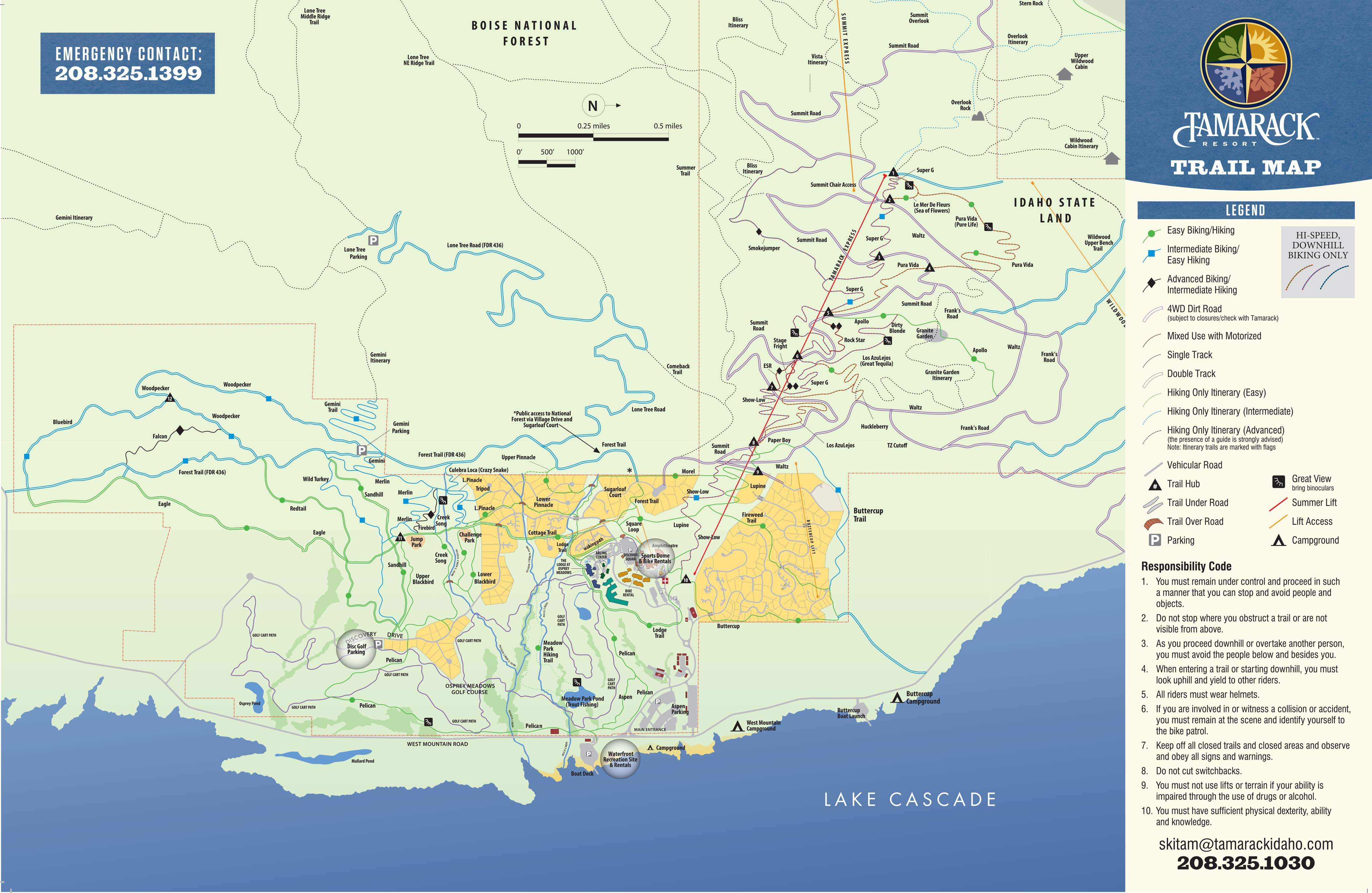 Bike Hiking Park Trail Map