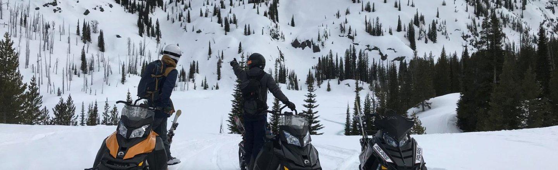 Explore Tamarack on snowmobiles