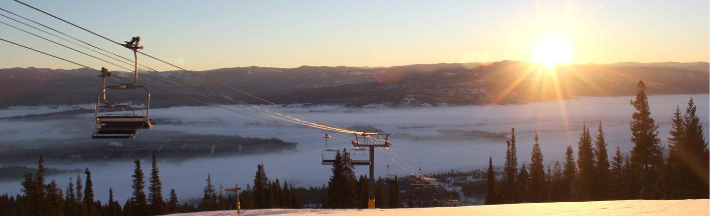 Ski Lift At Sunrise Tamarack Idaho