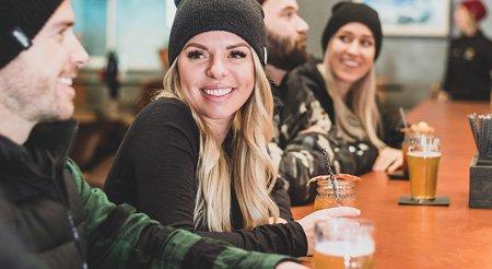 Posting Skiing Food and Drinks