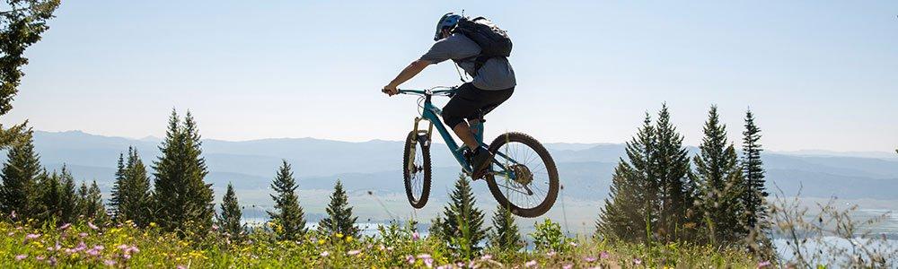More advanced riders for downhill biking