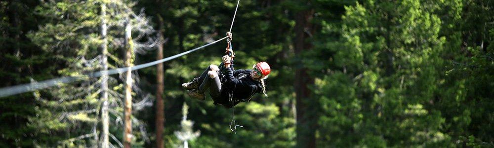 Idaho zipline at Tamarack Resort