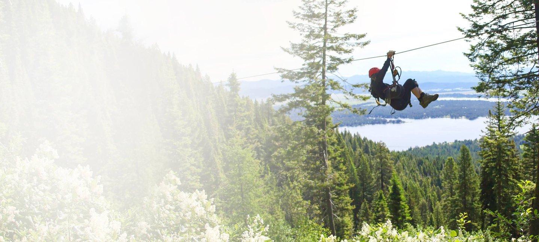 Summer Zipline Tour In Idaho Tamarack
